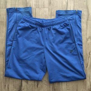 Nike Men's Blue Active Track Pants Ankle Zip
